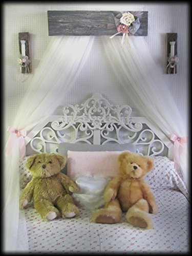 Shabby Chic Princess Bed Crown Canopy Crib Baby - Bed Canopy Wall Mount