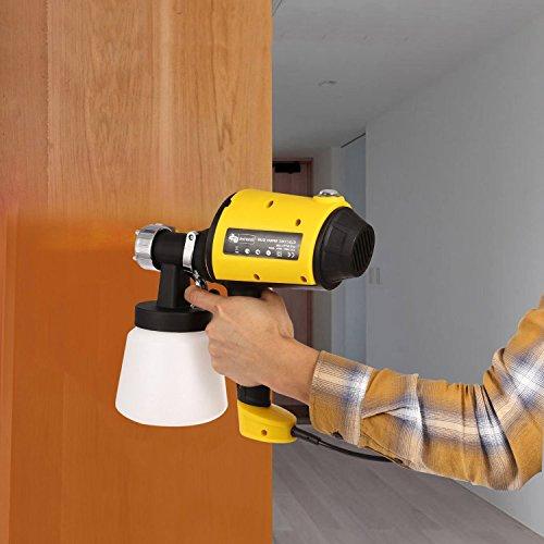 Hvlp Spray Gun, 800ml/min Automatic Spray Gun with Three Spray Patterns for Car Home Indoor by rampmu