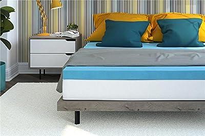 Signature Sleep 3-inch Gel Infused Memory Foam Mattress Topper Perfecrt Comfort