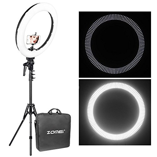 Zomei 12-inch Inner/14-inch Outer LED Ring Light 36W 5500K Lighting Kit with Tripod Stand Ball Head and Phone adapter for Camera Smartphone Youtube Video Shooting by ZOMEI