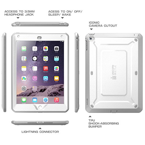 on sale 3c282 10b0e SUPCASE [Unicorn Beetle PRO Series] [Heavy Duty] Case for iPad Air 2,[2nd  Generation] 2014 Release Full-Body Rugged Hybrid Protective Case with ...