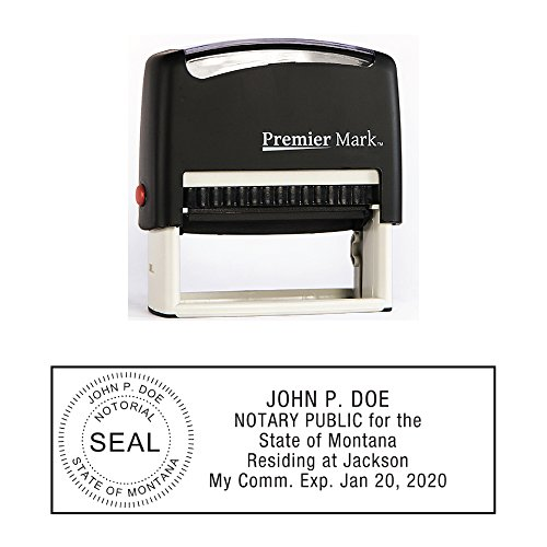 Montana Notary Self-Inking Rubber Stamp - Meets State Specifications