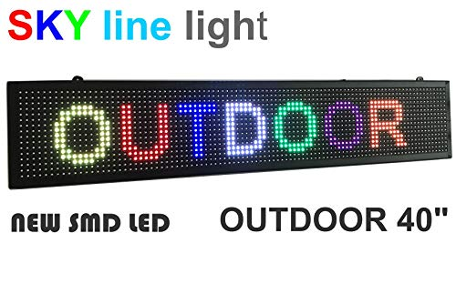 lay Full Color, LED Scrolling Message Sign, Bright and in New Light housing ()