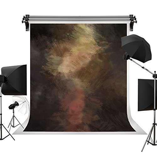 Kate 5x7ft/1.5x2.2m(W:1.5m H:2.2m) Retro Brown Texture Backdrop Portrait Photography Backdrops Dark Abstract Background Photography Studio Props for Photographer ()