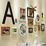 Famous Wall Stickers European-style wooden photo wall 10 box creative combination deer head wall of living room decoration wall hanging picture frame , 3-YS