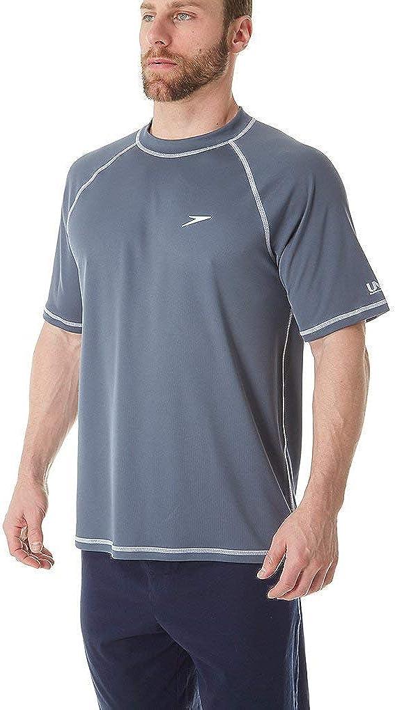 Speedo Mens Uv Swim Shirt Short Sleeve Loose Fit Easy Tee Manufacturer Discontinued