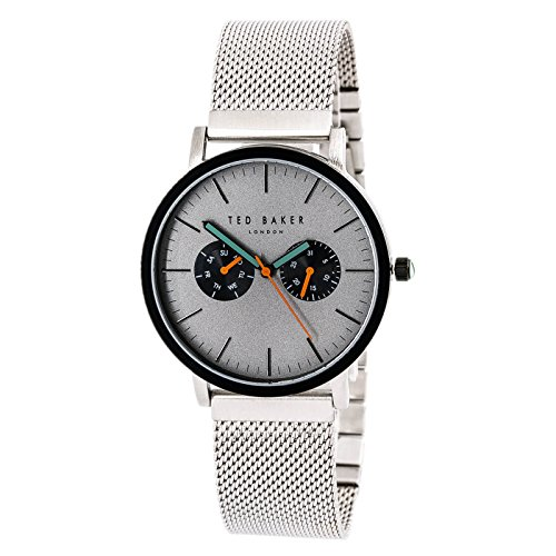 Ted Baker Men's 'Smart Casual' Quartz Stainless Steel Dress Watch, Color:Silver-Toned (Model: 10031187)