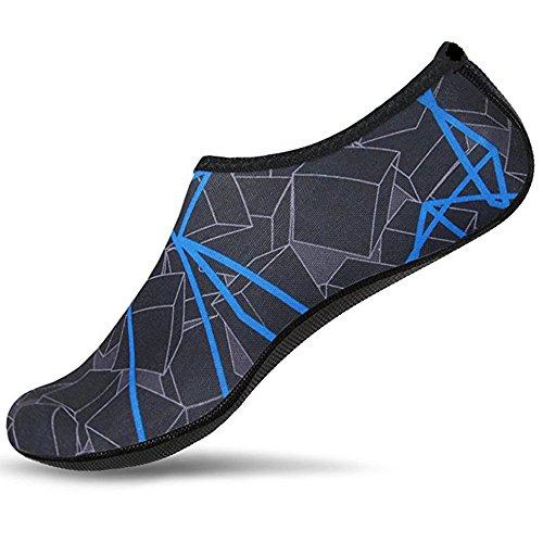 - CARMELA HILL WILLIAMS Water Shoes Aqua Slippers for Beach Slip On Waterpark Sandals Sandalias Slides