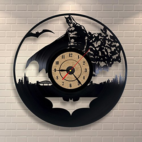 Vinyl Record Clock Batman Design Wall Decor Review