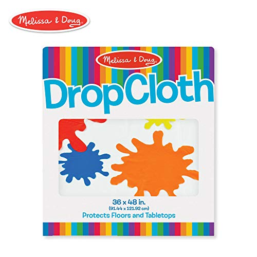 - Melissa & Doug Plastic Drop Cloth (3 x 4 feet) - Fits Under Deluxe Standing Easel