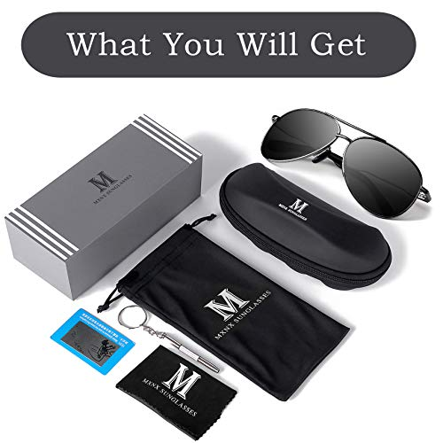 Aviator Sunglasses for Men Polarized Women -MXNX UV Protection Lightweight Driving Fishing Sports Mens Sunglasses MX208 7