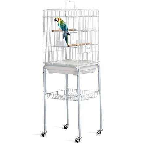 Yaheetech Jaula de Periquito Loro Jaula de pájaros para Aves con ...