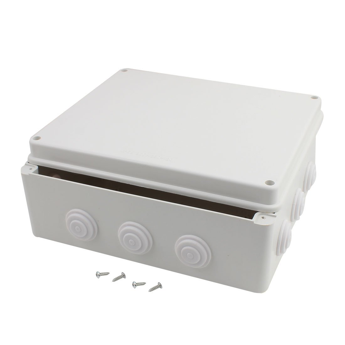 uxcell 200mmx100mmx70mm Dustproof IP65 Junction Box Universal Electric Project Enclosure Gray a17030700ux1389