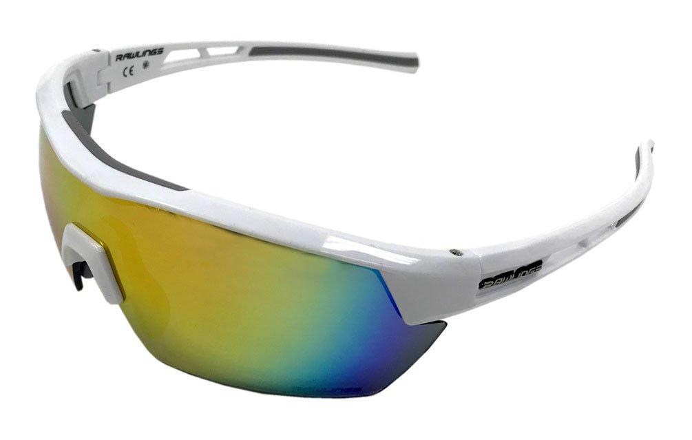 Rawlings Men's Athletic Sunglasses 34 White/Orange Mirrored Lens 10235354.QTS