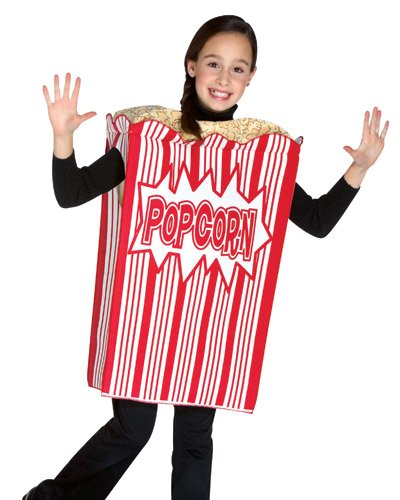 Popcorn Costumes (Rasta Imposta Movie Night Popcorn Children's Costume, 7-10, Red)