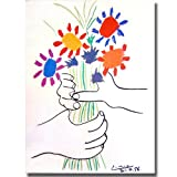 Pablo Picasso's Stretched canvas of Hands with Bouquet will add ambiance to any home or office.