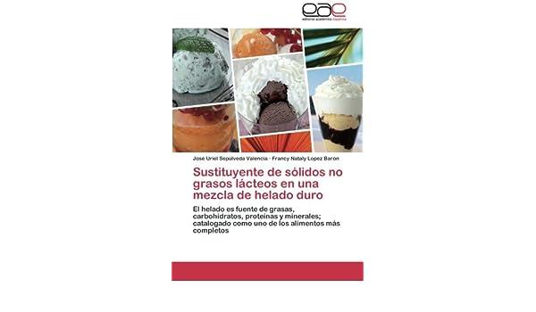Sustituyente de sólidos no grasos lácteos en una mezcla de helado duro: El helado es fuente de grasas, carbohidratos, proteínas y minerales; ...