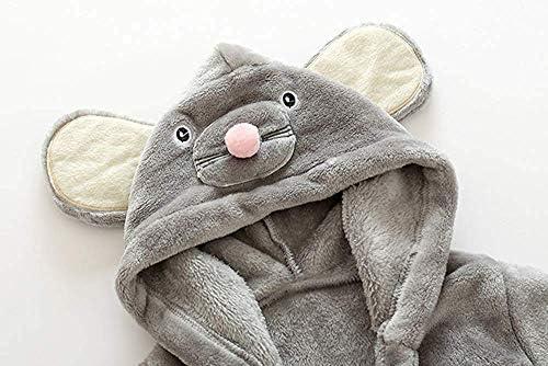 Flanell Grauer s/ü/ßer Maus Baby-Bademantel 0-5 Jahre. Little Hand Kapuzenhandtuch Baby:Badet/ücher mit Kapuze f/ür Jungen und M/ädchen