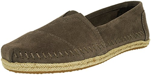 TOMS Women's Ash Grey Suede Rope WM Alpe 10008922 (Size: 8.5)