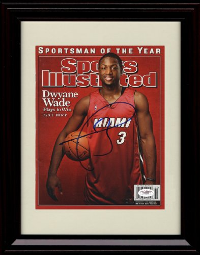 Framed Dwyane Wade Sports Illustrated Autograph Print - Framed Sports Poster