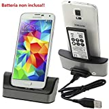 Dual USB Sync desktop charger dock station+Battery Charger for Samsung Galaxy S5 i9600 G900