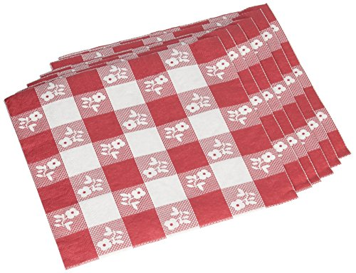 Creative Converting Paper Napkins, Two-Ply, 12 7/8 in x 12 3/4 in, Red Gingham, 50 per Carton (21188) ()