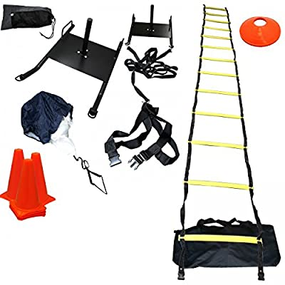 BlueDot Trading Power Sled Speed Ladder Agility Cones Kit