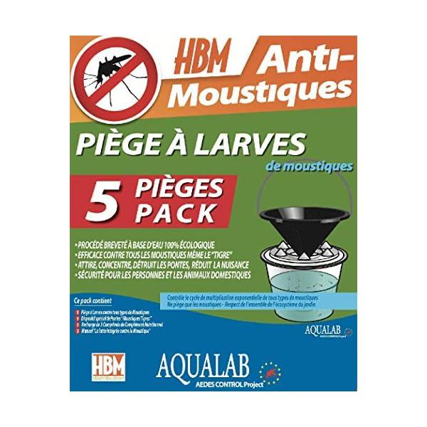 HBM 005-PR-PGE005 AquaLab larve trappole Anti-zanzare, da assemblare, in resina, trasparente, 60 x 35 x 45 cm confezione… 1 spesavip