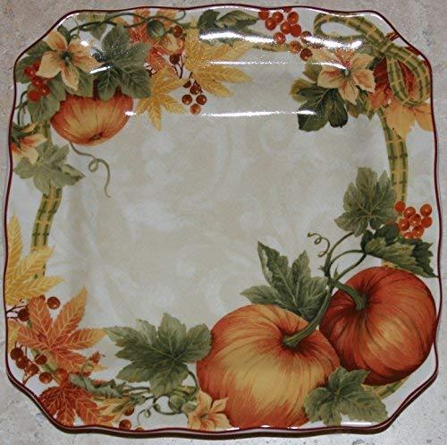 Plate And Vine (222 Fifth Thanksgiving Pumpkin Vine 8-1/2
