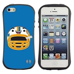 Hybrid Anti-Shock Bumper Case for Apple iPhone 5 5S / Happy Football Helmet wangjiang maoyi