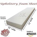 AK Trading Upholstery Foam 2'' x 24'' x 72'' Medium Density Cushion