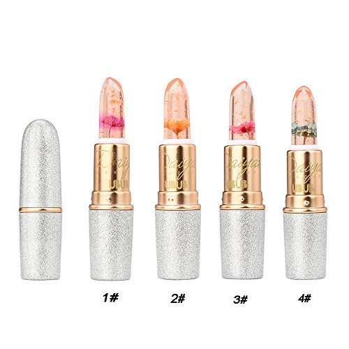 Beauty Bright Flower Crystal Jelly Lipstick Magic Temperature Change Color Lip WensLTD