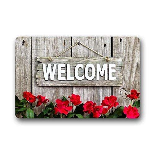 loejrfw Custom Machine Washable Door Mat Welcome and