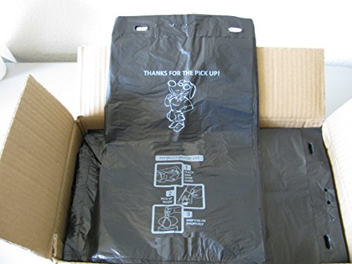 Pet Waste Bags, 1000 Pick-up Bags Size 9x14, Header Bag Pinch-N-Pull, Single Pull Design (PWC-008)
