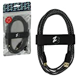 ZedLabz ultra 3M braided USB charging cable adapter for Nintendo 3DS, 2DS & DSi - gold plated extra long play & charge lead with tidy