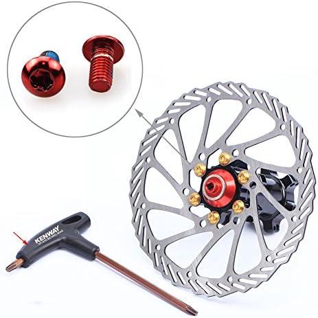 CYSKY - Tornillos de Freno de Disco M5 de 10 mm para Bicicleta de ...
