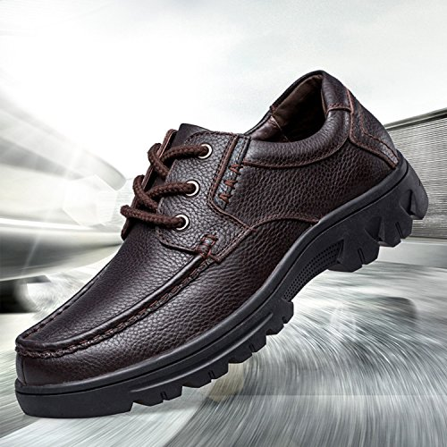 Wide Width Brown2 Shoes Leather Genuine Formal Cow Oxford Classic Men's Lace PHILDA up Business Dress Modern pqZdw5pF