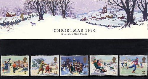 Royal Mail Sellos Paquete Presentación de Navidad de 1990, No. 213 ...