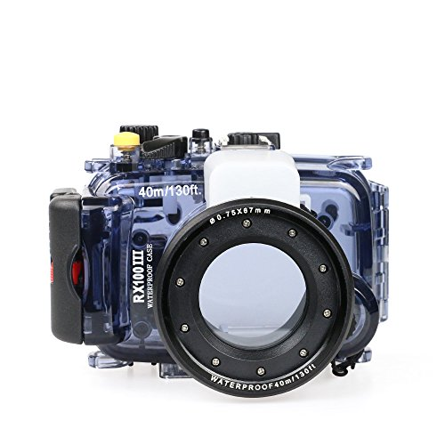 Sea frogs Underwater Case 130FT/40M Camera Diving Waterproof Housing for Sony RX100 III RX100 IV by Sea frogs