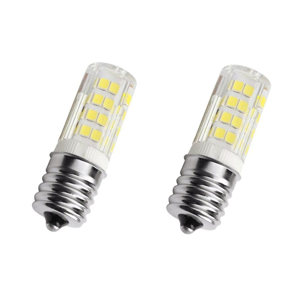 E17 LED Bulb 4 Watt Microwave Oven Light, AC110-130V,Daylight White 6000K dimmable (Pack of 2) (Daylight White)