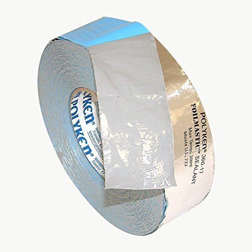 Nashua 360-17/SI2100 Polyken 360-17 Heavy Duty Foil/Butyl Rubber Tape, 17 mil Thick, 100' Length x 2