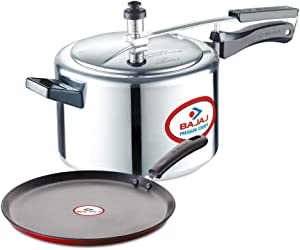 Bajaj PCX 45 5-Litre Inner Lid Pressure Cooker & Induction Tawa 280mm Combo Set