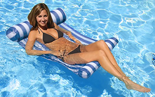 - Poolmaster Swimming Pool Water Hammock Lounge, Blue