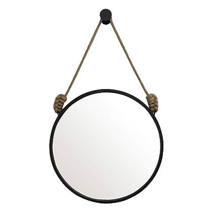 Specchio Tondo Da Parete.Specchi Da Toeletta Tondo In Metallo A Parete Specchi A Canapa