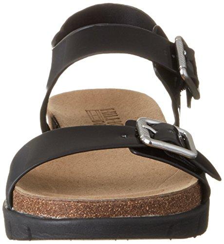 Sandalias Sandal Negro Black con S1385lide 990 3z Hilfiger Mujer para Tommy Cuña E7qI4