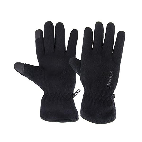 ALPIDEX Guantes de Lana con Thinsulate Guantes de Dedo con función de Tacto Unisex de Relleno Thinsulate 2