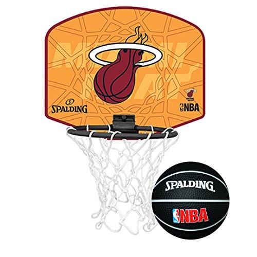 Spalding NBA Team Mini Basketball Set, Giallo - Miami Heat