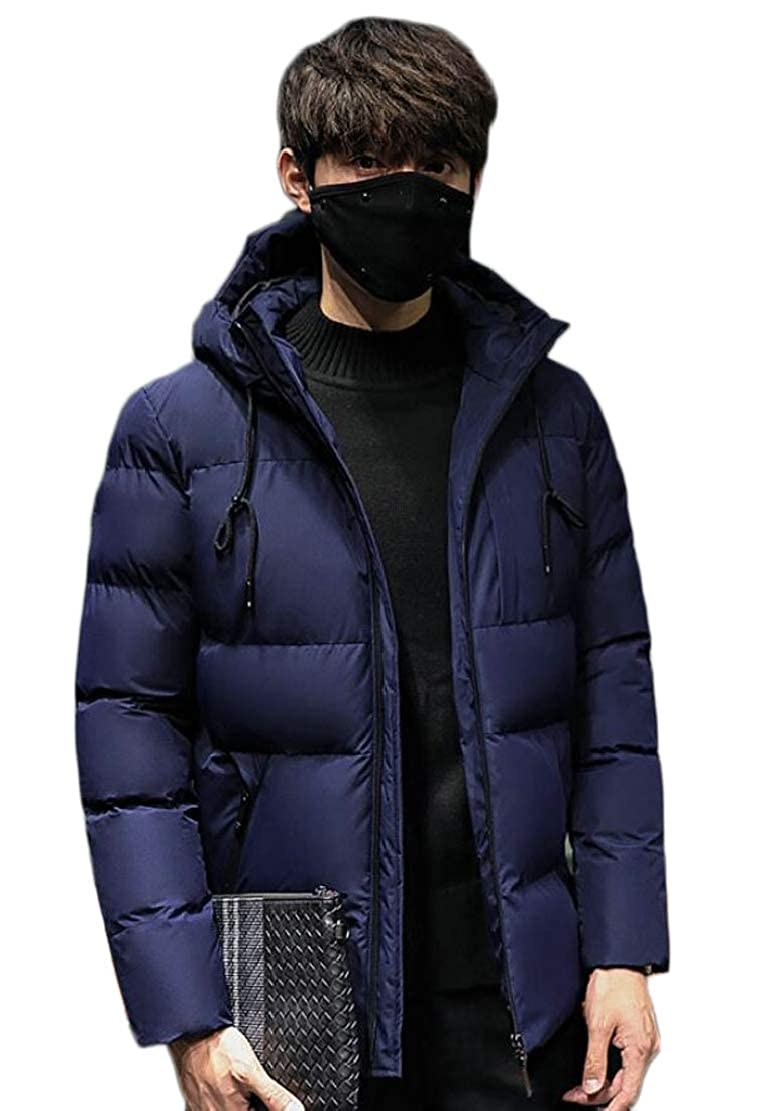 WSPLYSPJY Mens Fashion Packable Insulated Light Weight Hooded Puffer Down Jackets