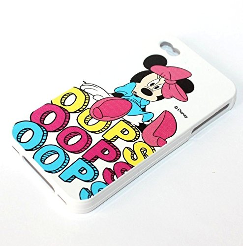 TPU Silicone Rubber Skin Case Cover Faceplate Disney Character for iPhone 4 4S (Pink Oops! Minnie Mouse)