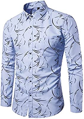 Colorful Men Shirt Camisa de Manga Larga para Hombre, Colorida ...